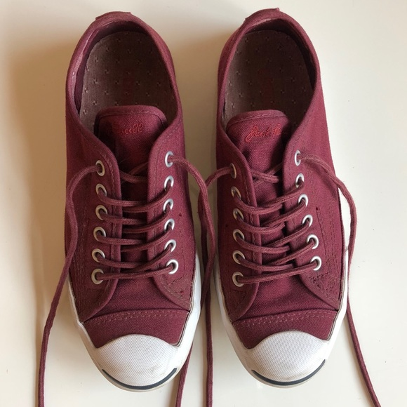 400fd9d42075 Converse Shoes - Converse Jack Purcell sneakers burgundy size 7